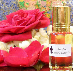 Pure Jasmine and Rose Oil Absolute- Perfume - All Natural Aromatherapy Essential Oils ~ Rose and Jasmine Perfume ~ Bridesmaids Gift Ideas